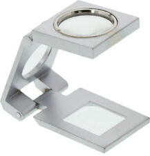 10X Magnifier Glass Magnifying Folding Loupe Handsfree Coins Stamps Jewelers