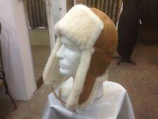 100% shearling Russian Ushanka trooper hat Merina light weight - $69.00
