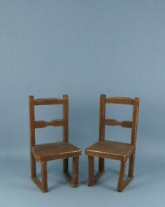 Vintage dolls house chairs.
