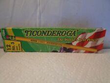 Vintage Dixons Ticonderoga 13883 No.3 Pencil Box 11 Pencils Unsharpened