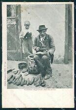 Napoli città Costumi Ragozino Ciabattino STRAPPINO cartolina XB3664