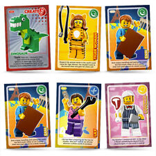 CREATE THE WORLD LEGO SAINSBURY'S CARDS, 10 for £2.79 Free P&P