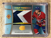 15-16 UD Ultimate Rookie RC Debut Threads Patch #DT-CH CHARLES HUDON /5