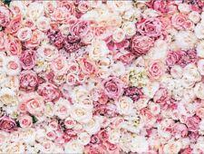 8x6ft Vinyl Wedding Pink Floral Wall Photography Studio Backdrop Background
