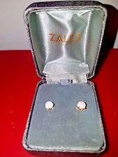Zales Jewekers 6.0mm Cushion-Cut Lab-Created Opal Stud Earrings in 14K Gold