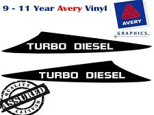 TURBO DIESEL Decal Sticker For Toyota HILUX 3 Fin Bonnet Scoop 2012 to Current