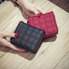 Fashion Women Small Bifold Leather Wallet Mini Card Bag Zipper Cute Pocket Purse