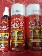 2 Shampoo Sangre Grado Oil & 1 Lotion 16.9 fl oz each Growth Promoter