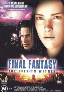 Final Fantasy - The Spirits Within DVD (PAL, 2001) VGC, FREE POST