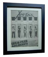 X-RAY SPEX+Germ Free Adolescents+POSTER+AD+ORIGINAL 1978+FRAMED+FAST+GLOBAL SHIP
