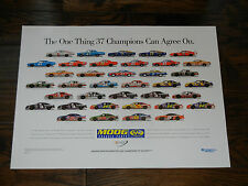 2003 NASCAR Moog 37 Champions Poster Dale Earnhardt Jeff Gordon Richard Petty++
