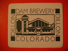 Beer Coaster Bar Mat ~*~ Dillon Dam Brewery ~ Summit County, COLORADO Since 1996
