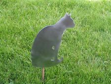Cat kitty sitting yard garden stake metal art feline #3