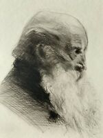 Cadwallader Washburn gravure Eau Forte Etching Portrait D'homme De Profil