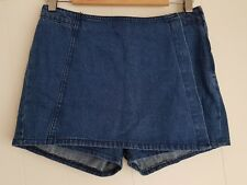 Ladies size 10 Blue 100% cotton denim skorts - Chic a Booti