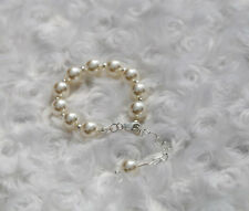 My first BRACELET Baby Pearls w/ Extension Chain & 925 sterling Clasp 0-10 years