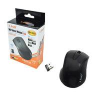 Mouse Mini Ottico Wireless 2.4Ghz Con Ricevitore Usb Linq SH-601 1200dpi