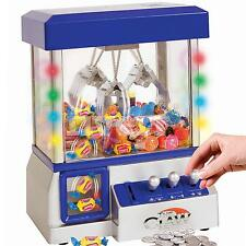 Carnival Claw Game Machine Mini Arcade Grabber Crane  Blue + 24 toys