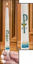 Baptism Chi Rho Taper Candle (71151) NEW with Baptism Certificate