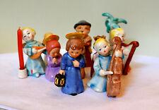 11 Porzellanfiguren,Krippe mit Jesus, Maria, Josef, Engel,Palme usw.,Goebel