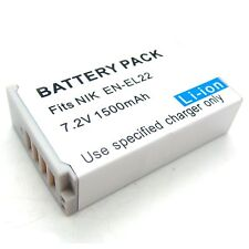7.2v Li-ion Battery Pack for EN-EL22 NIKON 1 J4 1 S2 Digital Camera Brand New