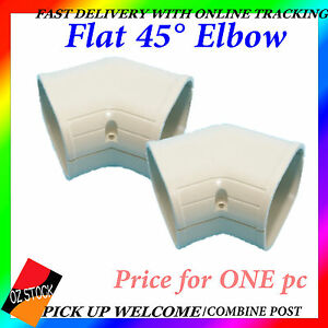 Air Conditioner Flat 45° Elbow Connector Sturdy Anti-Corrosion Ducting QKF-7