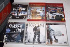 PS3 6 GAME LOT COD GHOSTS BATTLEFIELD 3 MIDNIGHT CLUB ICON DEAD SPACE UNCHARTED2
