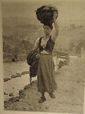 PLANCHE FIGARO SALON 1890 d' APRES TABLEAU JULES BRETON LAVANDIERE
