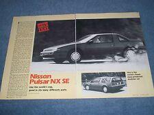 "1988 Nissan Pulsar NX SE Vintage Road Test Info Article ""Like the Curte's Egg..."