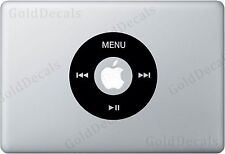 Control Wheel - Mac Apple Logo Cover Laptop Vinyl Decal Sticker iPod Decal