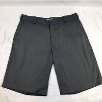 Nike Golf Tour Performance Dri-Fit Mens Bermuda Shorts Gray Welt Pockets Zip 34