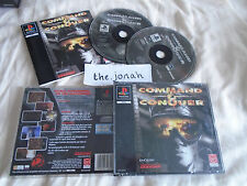 Command and Conquer PS1 RARE BIG BOX (COMPLETE) Sony Playstation black label