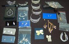 Princess Diana Doll Jewelry Crown Teirra Pins Necklace Earrings Franklin Danbury