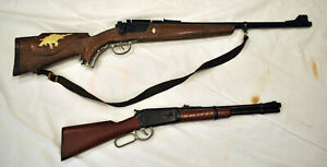 Vintage 60s Johnny Eagle Magumba and Marx Toy Rifle Lot of 2 Toy Guns