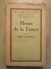 DRIEU LA ROCHELLE, Mesure de la France, édition originale, 1922, Grand papier.