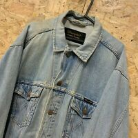 "Vintage Wrangler Thick Heavy Denim Shirt / Jacket Authentic Western L 48"" Chest"