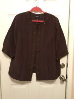 Maggie Barnes jacket with lining, brown , size 1X (18/20)
