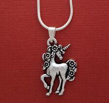 Unicorn Necklace Pendant Chain magical horse spiritual jewellery mythological