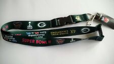 Green Bay Packers Football NFL Dynasty Lanyard Key Ring Keychain w/ Safety Clip