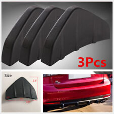 Universal 3Pcs Rear Bumper Diffuser Molding Point Garnish Black For All Car