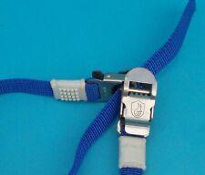 Campagnolo INOX blue nylon toe straps (one pair) vintage 1980s