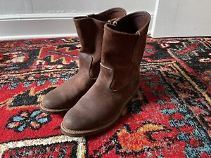 Red Wing 8189 Pecos Suede Boots Cork Sole Heritage 9E 9 Roughout Engineer