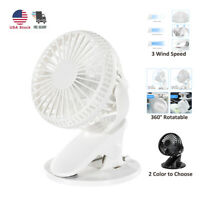 Portable Battery Operated Clip USB Rechargeable Fan with 360 Degree Rotation
