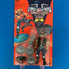 Vintage 1993 Throttle Action Figure Biker Mice from Mars Galoob New on Card