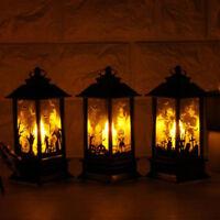 Holiday Decorative Hanging Light Pumpkin Skull Flame Lamp Castle LED Lantern