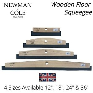 Heavy Duty Floor Squeegee Head Industrial Wood & Rubber Blade Large Wet Cleaning
