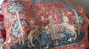"""Medieval Tapestry Wall Hanging 36"""" x 25"""" reproduction"""