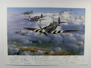 Philip West | Over the Beaches | D-Day SPITFIRES WW2 PILOTS multi-signed LTD ED