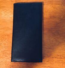 Marshal Genuine Leather Black Checkbook Cover