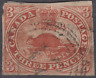 Canada 1850's Used 3d Red SG ?  4 MARGINS